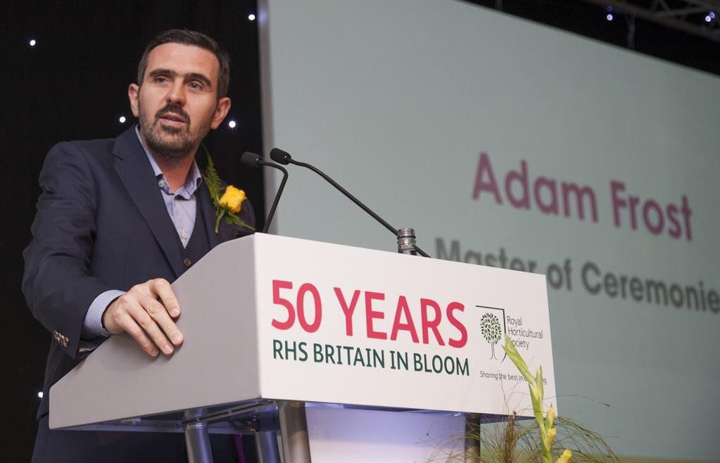 Adam Frost speaking at RHS Britain in Bloom