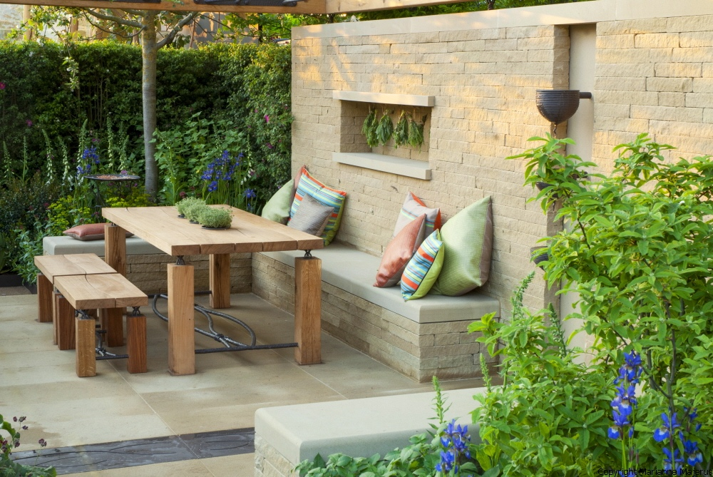 Adam Frost Chelsea Flower Show 2014 seating area