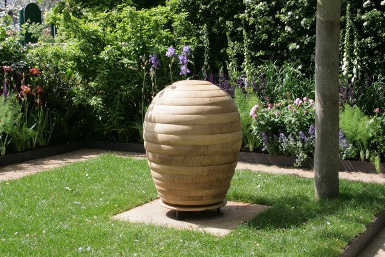 Round beehive designed by Adam Frost