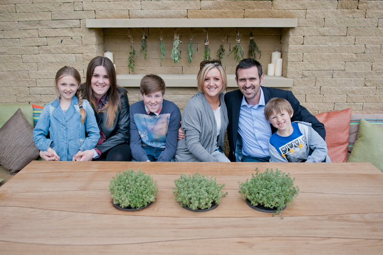 Adam Frost and his family