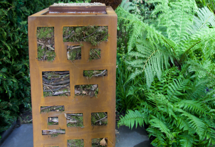 Bug hotel designed by Adam Frost for Chelsea 2015