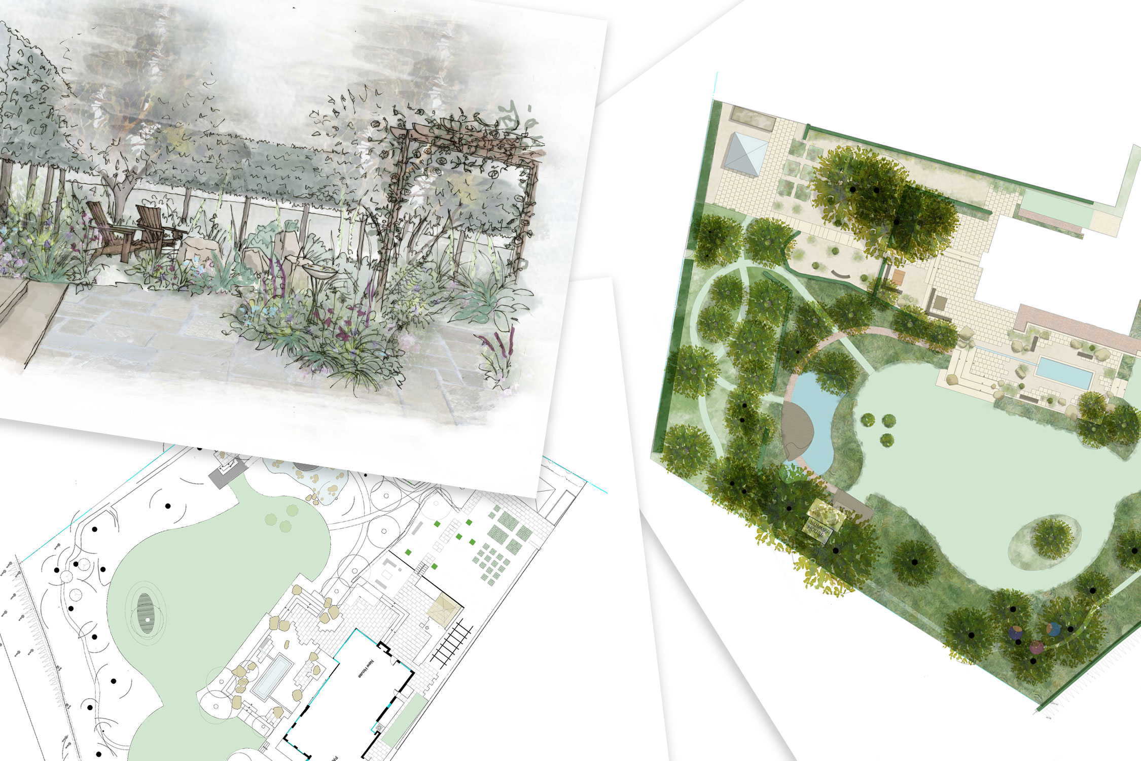 Design layout drawings by Adam Frost and his Team