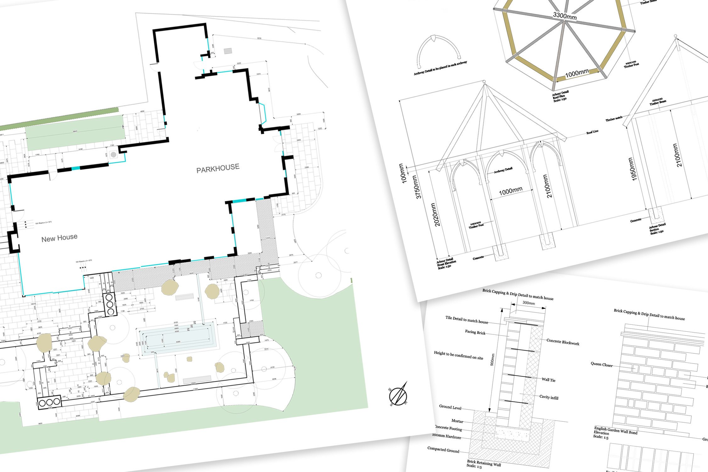 Specification drawings by Adam Frost and his Team