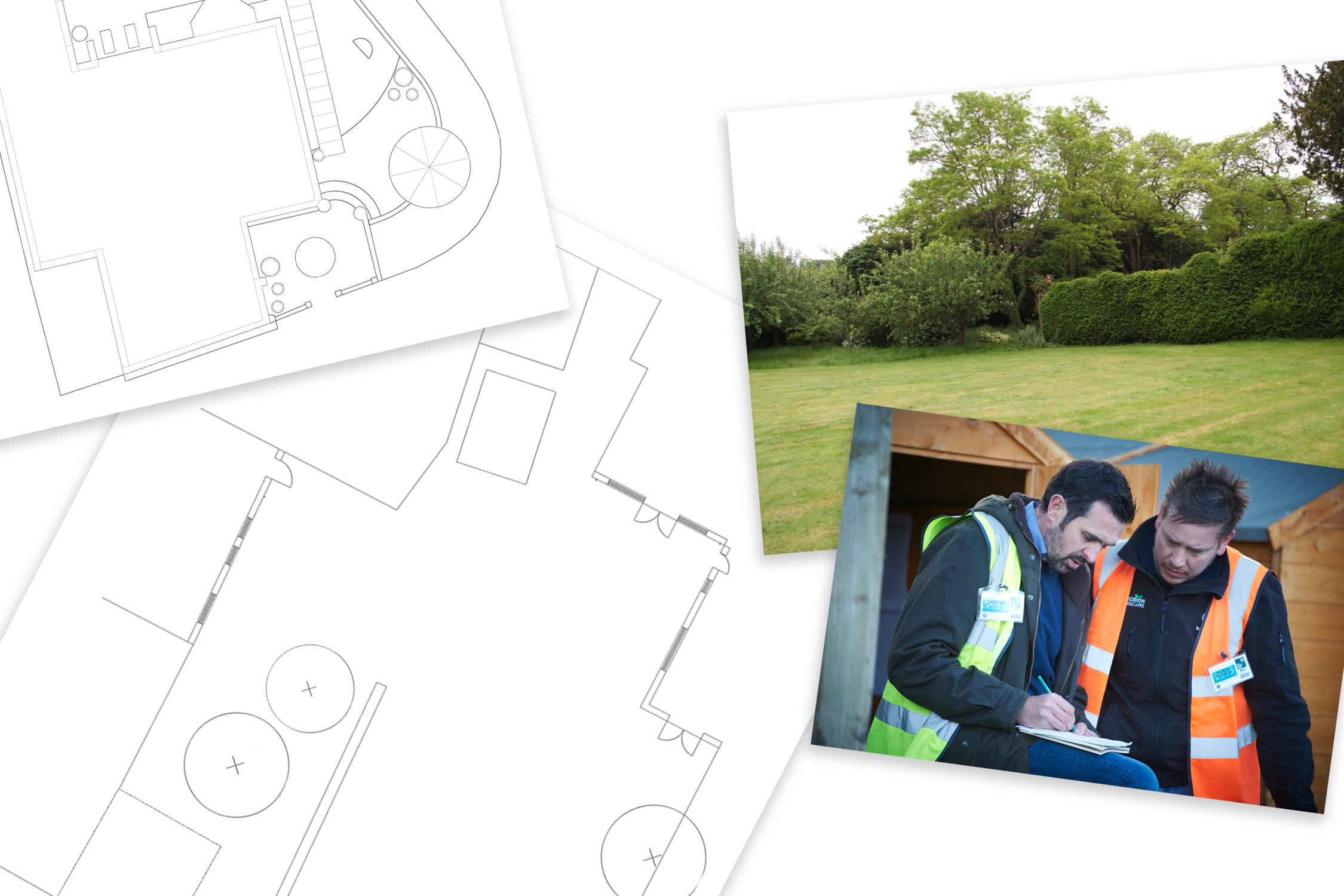 Garden survey and consultation drawings by Adam Frost