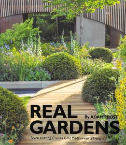 Real Gardens book cover written by Adam Frost